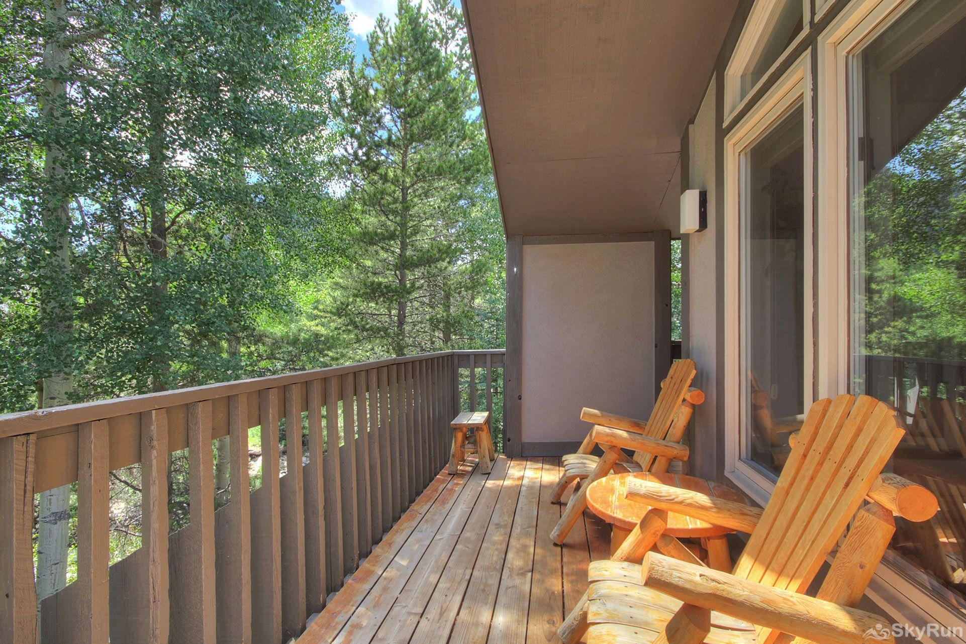 CC301 Cross Creek 2BR 2BA Wrap around deck with creek & mountain views