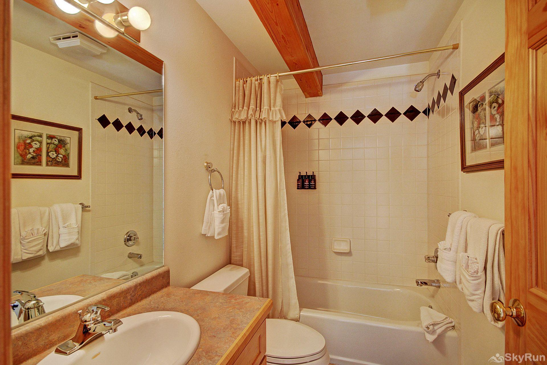 Sauterne Sanctuary 3BR 3BA Full Guest Bathroom on main level