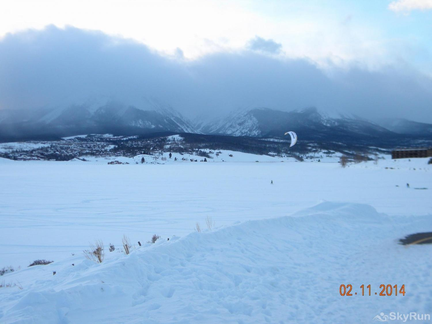 A208 Lake Cliffe Condos  2BR 2BA Winter activities on Lake Dillon