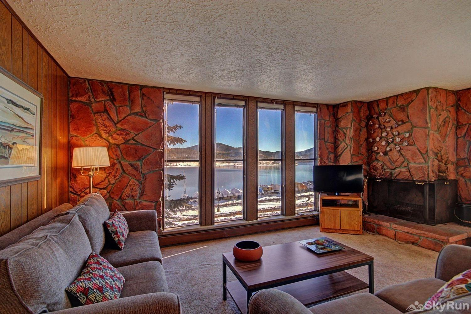 A208 Lake Cliffe Condos  2BR 2BA Living area with stunning views